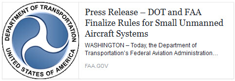 FAA Part 107 Finalized and