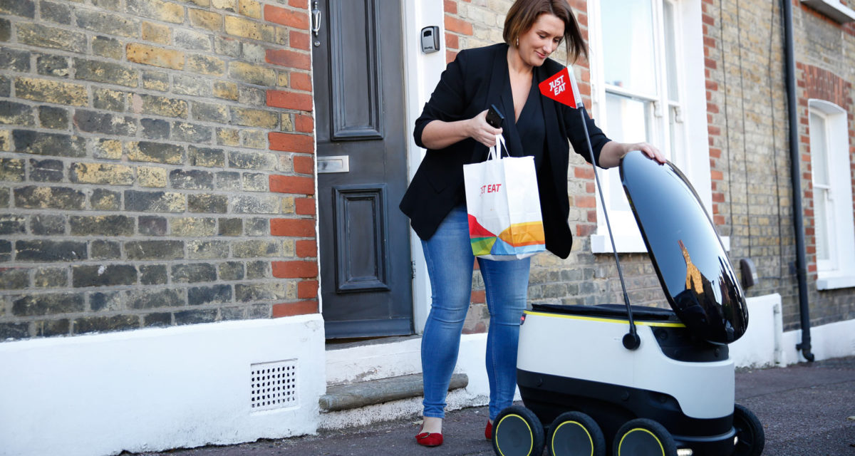 Just Eat starts delivering takeaways by autonomous robot